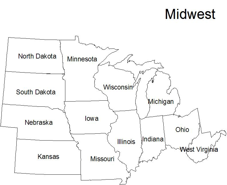 ... States Map in addition Midwest States Map Worksheet. on printable us
